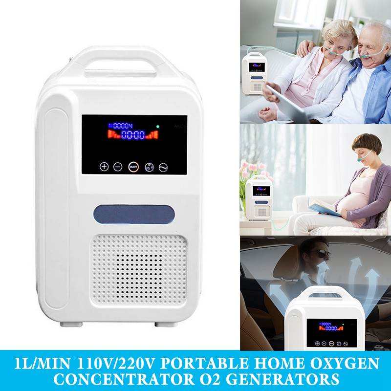 Portable Oxygen Concentrator <font><b>O2</b></font> <font><b>Generators</b></font> Air Purifier Ventilator Sleep MINI Oxygen Machine For Home image