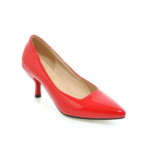 Image 3 - ZawsThia 하이힐 여성 펌프 얇은 뒤꿈치 클래식 노란색 보라색 섹시한 숙녀 사무실 경력 신발 여자 드레스 신발 stilettos