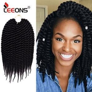 Leeons Twist Braid Hair-Extension Crochet Havana Mambo Natural Kanekalon Fashion 18-12-22-Long-7colors