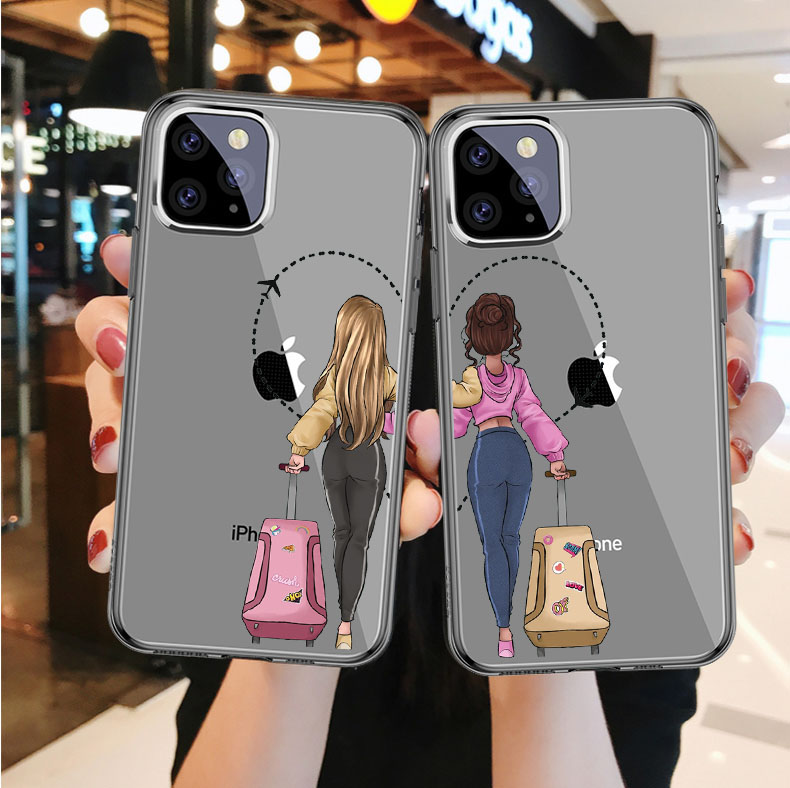 Vogue Girls <font><b>Bff</b></font> Best Friends Forever Transparent Soft TPU Phone Cover <font><b>Case</b></font> for <font><b>iPhone</b></font> 11 Pro MAX <font><b>SE</b></font> 5S 6 7 8Plus MAX XR XS X10 image
