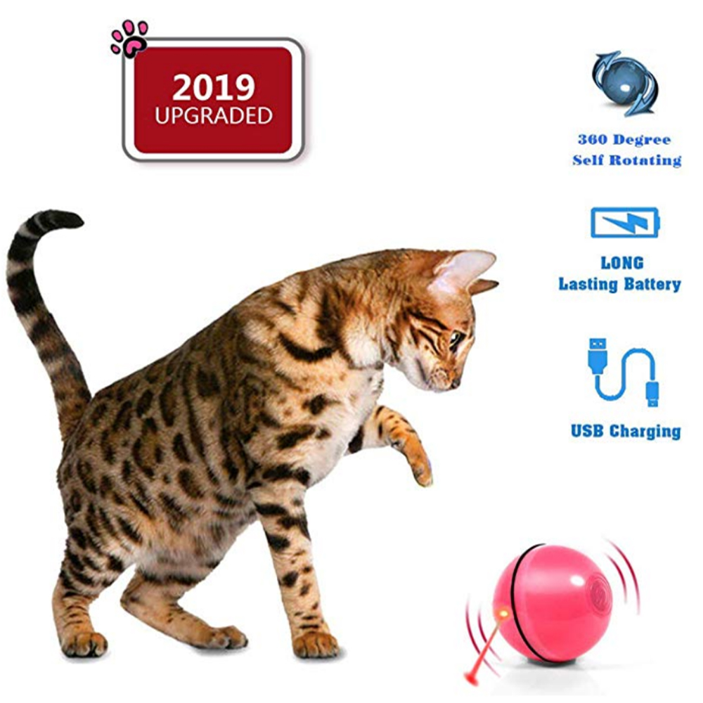 Intelligent Cat Toy Smart Interactive Ball Infrared Sensor Funny Cats Supplies Automatic Scratcher Toys For Pet Kitten With LED