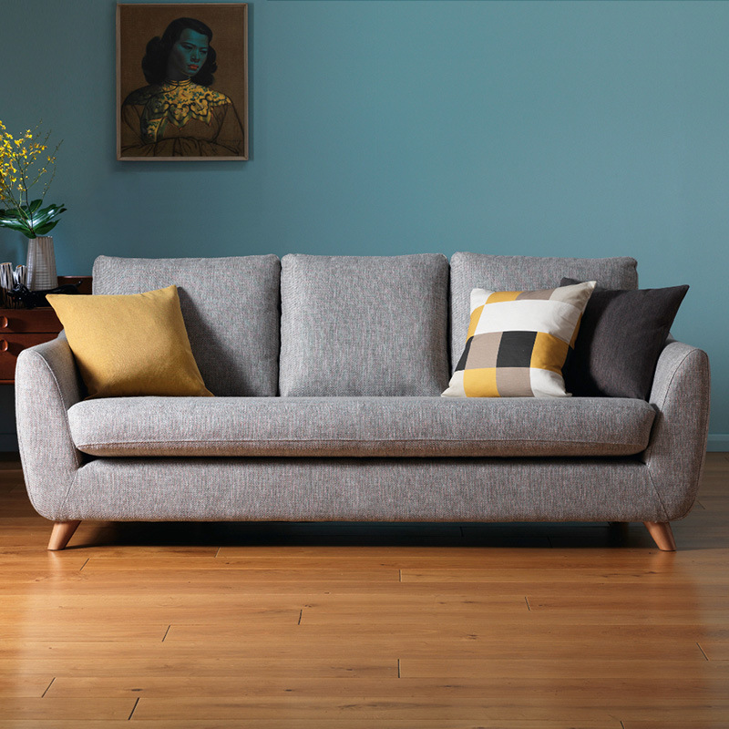 Living Room Three Seater Sofas Apartment Emulsion Filler Soft Small Three-Seat Living Room Sofa Set Sofa Bed