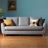 Living Room Three Seater Sofas Apartment Emulsion Filler Soft Small Three Seat Living Room Sofa Set Sofa Bed