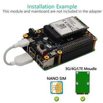 Base HAT Module 3G/4G/LTE Households Computer Safety Parts for Raspberry Pi/Samsung ARTIK/Latte Panda/ASUS Tinker image
