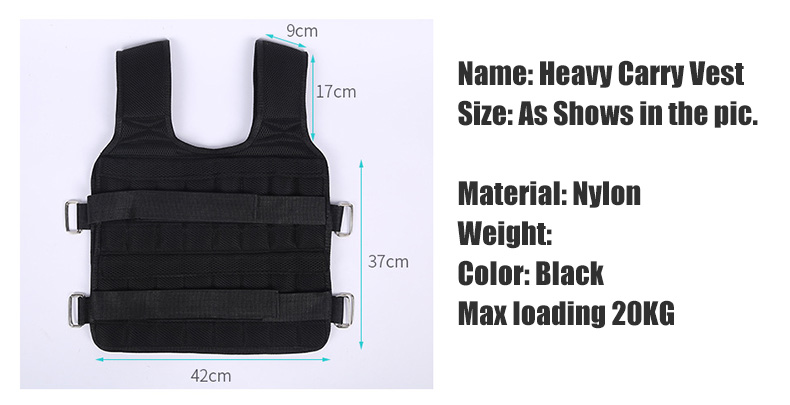30KG Loading Weight Vest For Boxing Weight Training Workout Fitness Gym Equipment Adjustable Waistcoat Jacket Sand Clothing 1