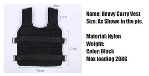 Image 2 - 30Kg Laden Gewicht Vest Voor Boksen Gewicht Training Workout Fitness Gym Apparatuur Verstelbare Vest Jacket Zand Kleding