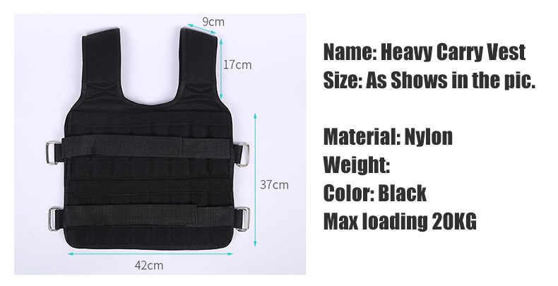 30Kg Laden Gewicht Vest Voor Boksen Gewicht Training Workout Fitness Gym Apparatuur Verstelbare Vest Jacket Zand Kleding