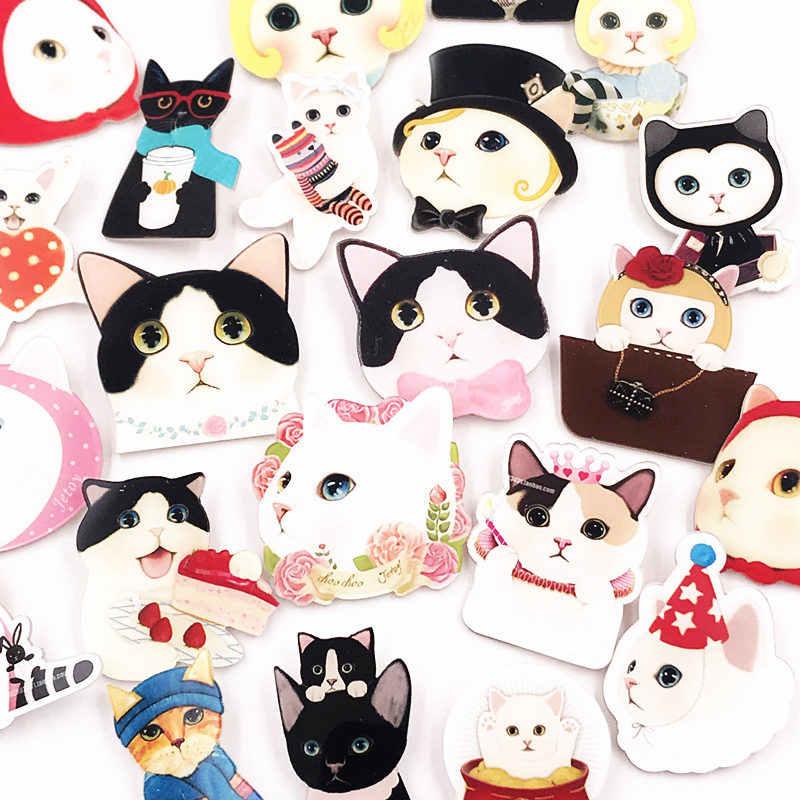 1 個かわいい漫画新デザインアクリルバッジ猫動物ピン高品質ブローチの子供の存在バックパック服スカーフ装飾