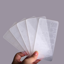 3 adet/grup plastik tırnak sanat damgalama plakaları temizle Stamper tırnak damgalama tabaklar manikür şablon tırnak araçları manikür 10 desenler