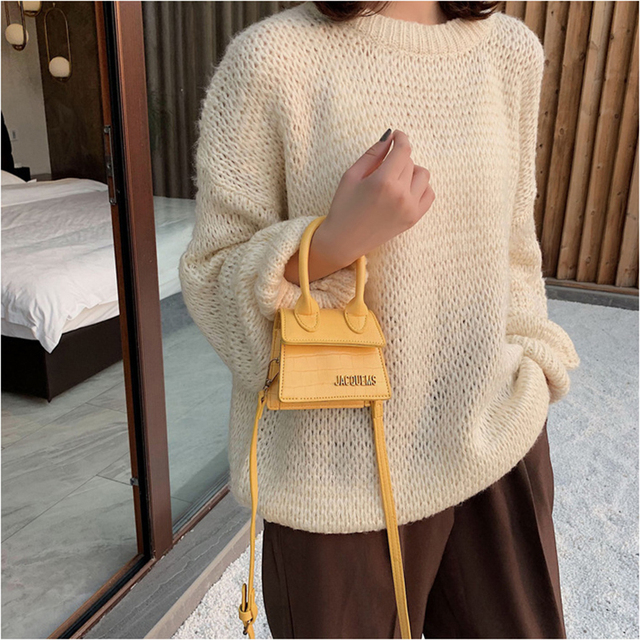 Luxury Handle Mini J Bags Brand Purses Handbags 2019 Women Designer Small Shoulder Crossbody Bags Female Crocodile Pattern Totes Luggage & Bags