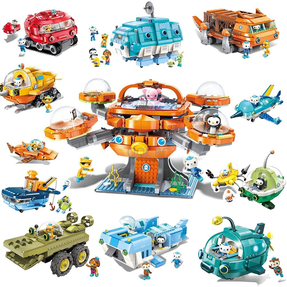 The Octonauts Serise Bricks Building Blocks Toys for Children Gifts Cartoons Animation Model Barnacles Peso Dolls