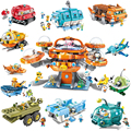 The Octonauts Serise Bricks Building Blocks Toys for Children Gifts Cartoons Animation Model Barnacles Peso Dolls