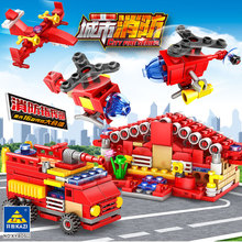 80511 Fire Series Headquarters 16-in-1 Childrens Creative Puzzle Assembled Building Blocks Toys Wholesale
