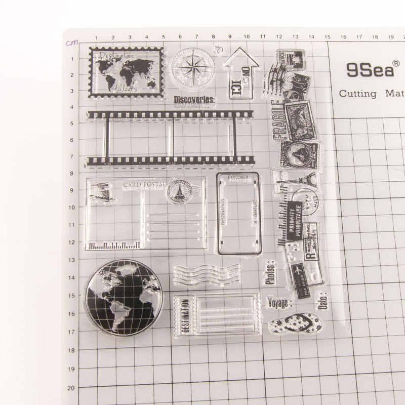 8 สไตล์เทปความทรงจำโปร่งใสล้างแสตมป์ยางแผ่น Cling Scrapbooking Photo Album กระดาษการ์ด DIY CRAFT