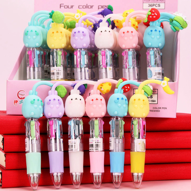 Фото 1 шт 4 цветная шариковая ручка мультфильм аниме манга милый цена