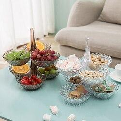 Kreatywny leniwy miska na przekąski kształt choinki cukierki przekąski plastikowe dwuwarstwowe pudełko na przekąski miska miska na owoce Chase artefakt w Naczynia i talerze od Dom i ogród na