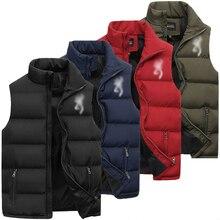 New Mens Jackets Sleeveless Vest Winter Men's Warm Vests Homme Casual Slim Fit Thicken Waistcoat bomber jacket men