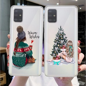 Christmas New Year gifts elk Soft Case For Samsung Galax S20 Plus S7 Edge S8 S9 S10 Plus S20Ultra Santa Claus Cover Funda Coque