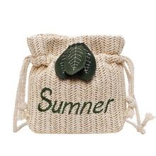 цена на Women Bag New Crossbody Bag Small Bag Casual Women's Shoulder Bag Straw beach bag
