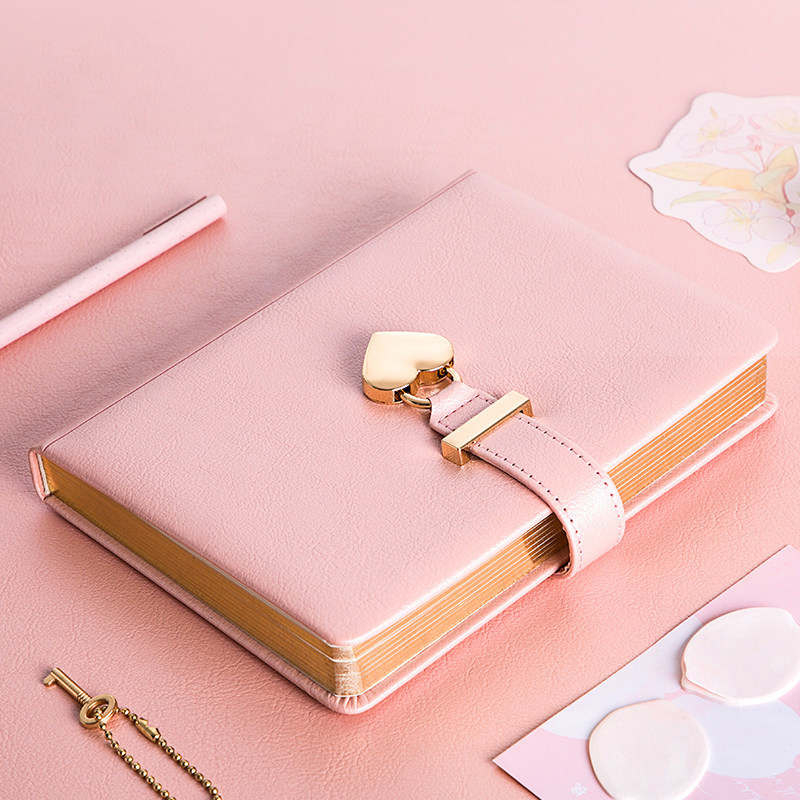B6 Diary With Lock Love Bullet Journal And Notebook Line Notepad Agenda Planner Organizer Couple Note Book Stationery Handbook