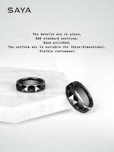 Image 4 - แหวนผู้ชาย,สีดำเซรามิคโดมวงแหวนสำหรับงานแต่งงานงานหมั้นกว้าง 7 มม.,จัดส่งฟรี,ที่กำหนดเอง