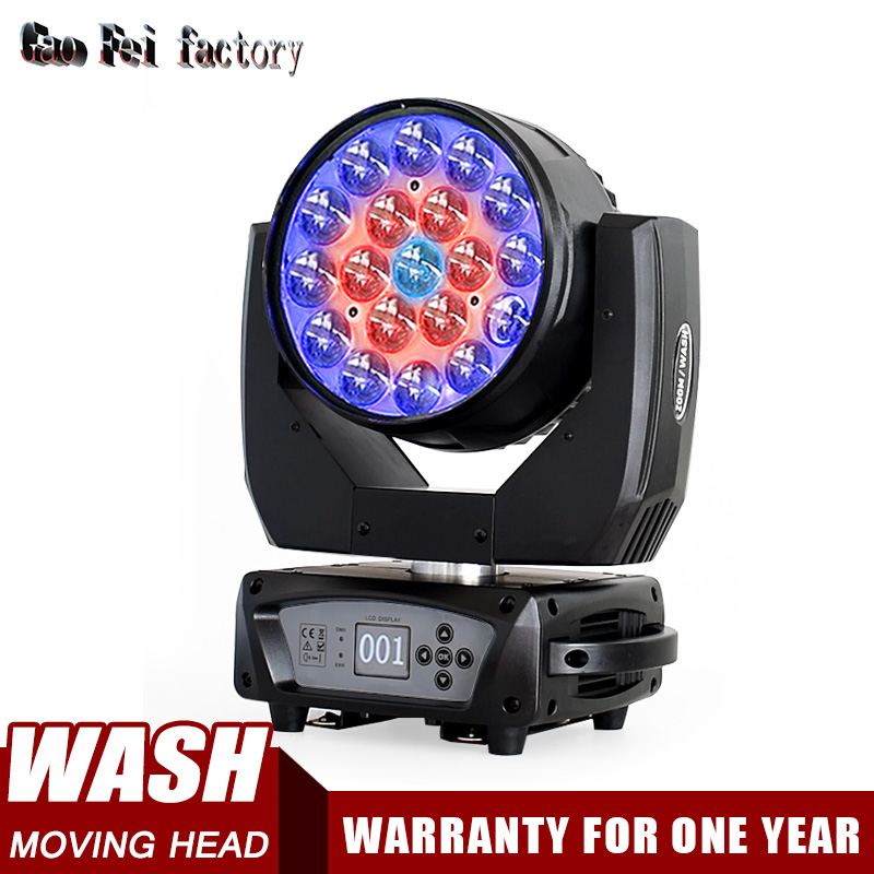 19x15w Rgbw Led Stage Light Moving Head Zoom Wash Projector For DJ Bar