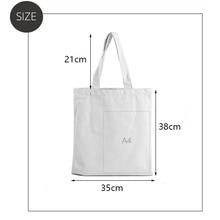 new 2021 shopping Bag Canvas Shoulder Bag Cute Female Harajuku Ulzzang Grunge Tote Shopper Bag