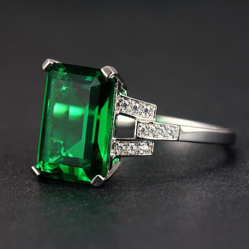 WEGARASTI, серебро 925, ювелирное изделие, Изумрудное кольцо, зеленый драгоценный камень, серебро 925, женские трендовые кольца, вечерние, обручальн...