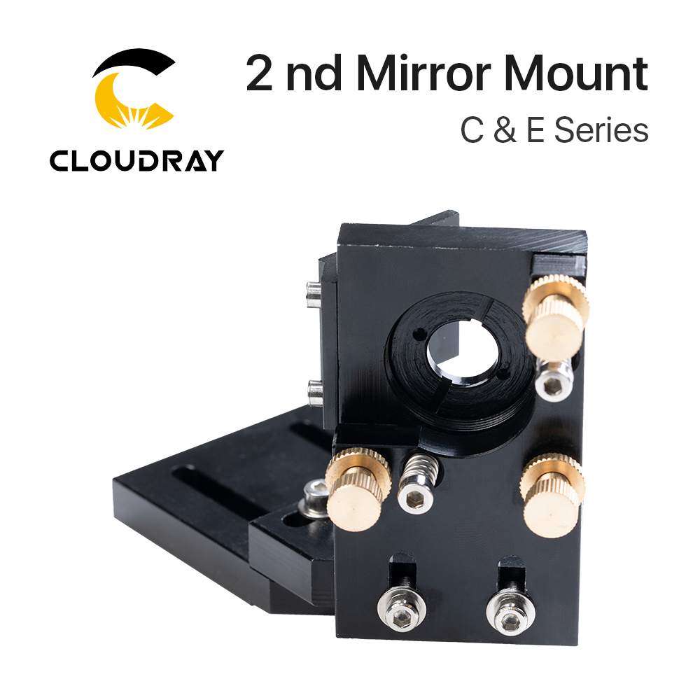Cloudray CO2 Laser Mount Reflective Mirror 25mm Laser Head Second Mirror Mount Integrative Mount For Lase Engraving Machine
