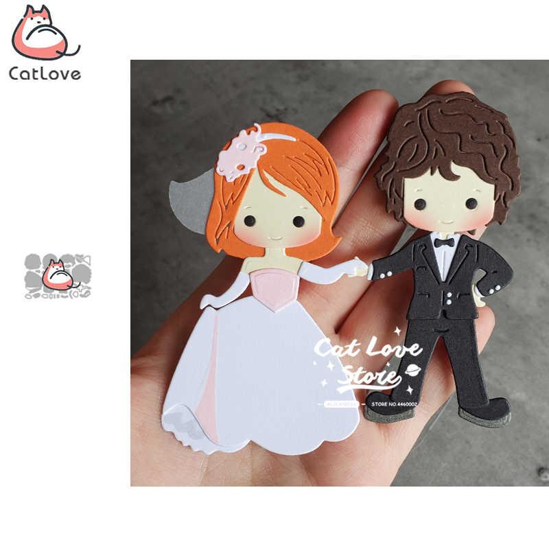 BRIDE /& GROOM small die cuts scrapbook cards