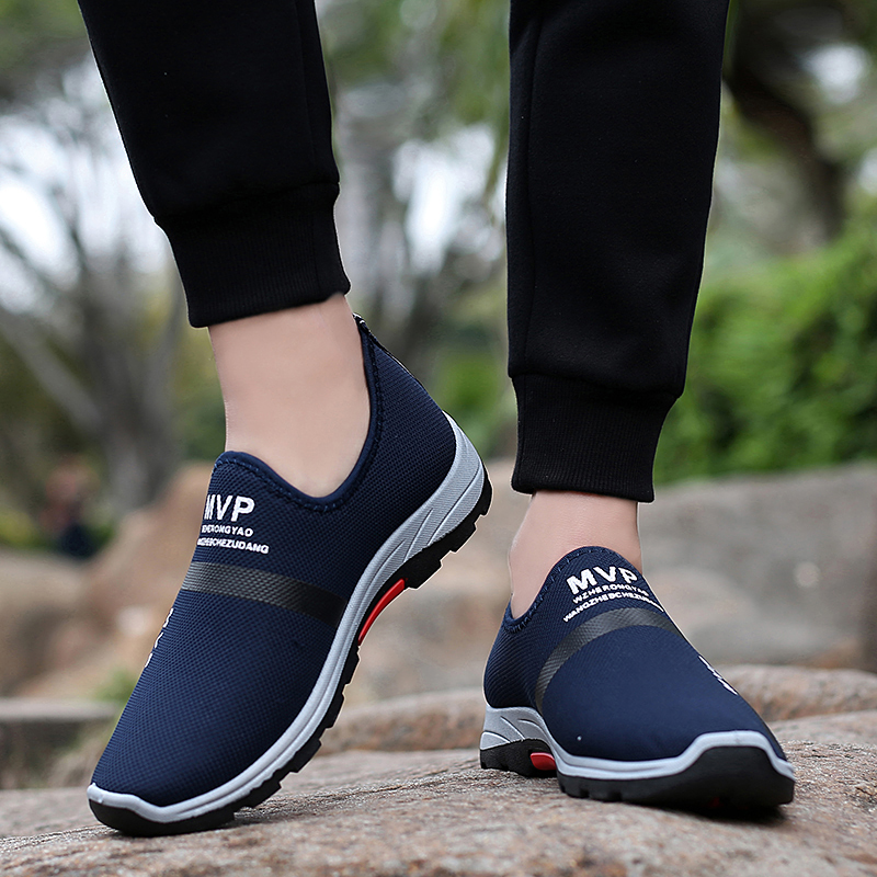 Walking Shoes Summer Lightweight Men Casual Shoe Slip-on Breathable Mesh Loafers