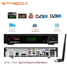 GTmedia V7 Plus DVB-S/S2 + T/T2 DVB-T2 Satellite Receiver HD 1080P DVB T2 Tuner mit usb Wifi dongle Antenne Für Spanien Europa