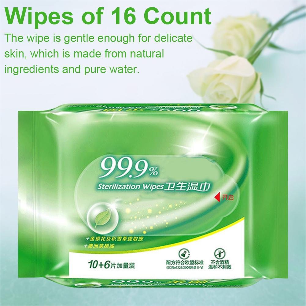 5Pack Portable Wet Wipes Disinfection Wipes Alcohol Swabs Wet Wipes Skin Cleaning Care Sterilization Skin Cleaning Tissue
