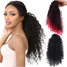 LUPU Women's Curly 14 Inch Ponytail Hair Extension Hair Extension High Temperature Resistant Synthetic Fiber Wig [delice] 16 inches women s high temperature fiber synthetic hair curly ponytail piano color 90g piece