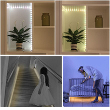 1m 2m 3m Wireless PIR Motion Sensor Night Light Under Bed lamp For Home Closet Wardrobe Cabinet Stairs Security Lamp Battery Pow