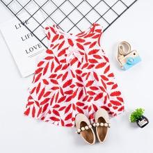купить Summer Girls Dresses Cute Sleeveless Baby Clothing Toddler A Line Clothes Party Baby Sling Dress For Children kids Costume по цене 325 рублей