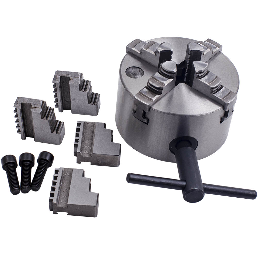 "K12-100 4/"" Self-centering Metal Lathe Chuck 4Jaw 100mm Jaws /& Wrench CNC Center"