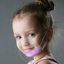 Masque Pour enfants Transparent réutilisable, cache-nez lavable, avec expressions visibles, boucles auriculaires, unisexe
