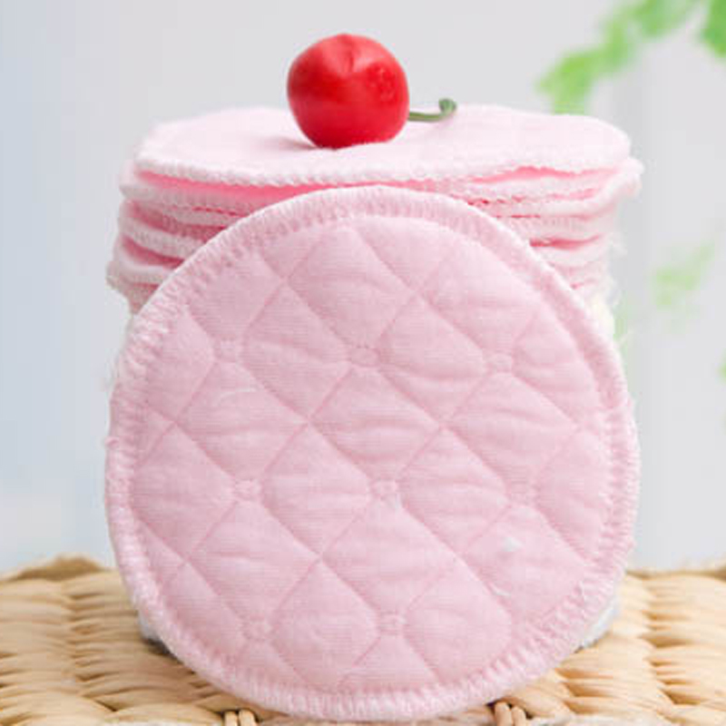 12Pcs Cotton Reusable Nursing Breast Pads Waterproof Organic Plain Washable Pad Soft Absorbent Baby Breastfeeding Accessory