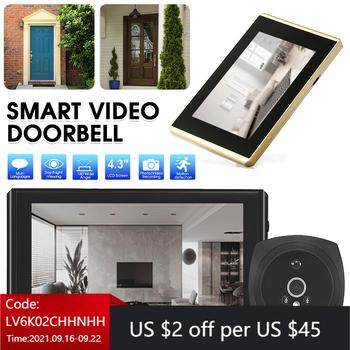 Dzwonek z kamerą wideo HD cyfrowy 4 3 Cal wizjer zdjęcie wideo wizjer do drzwi kamera szerokokątny dzwonek do domu wykrywanie ruchu tanie i dobre opinie TRAVOR CN (pochodzenie) PRZEWODOWY Suche baterii Kolor Dzwonek wideo do drzwi Yes (need micro sd card) Max 32GB Build in rechargeable battery include) Android charger (not include)