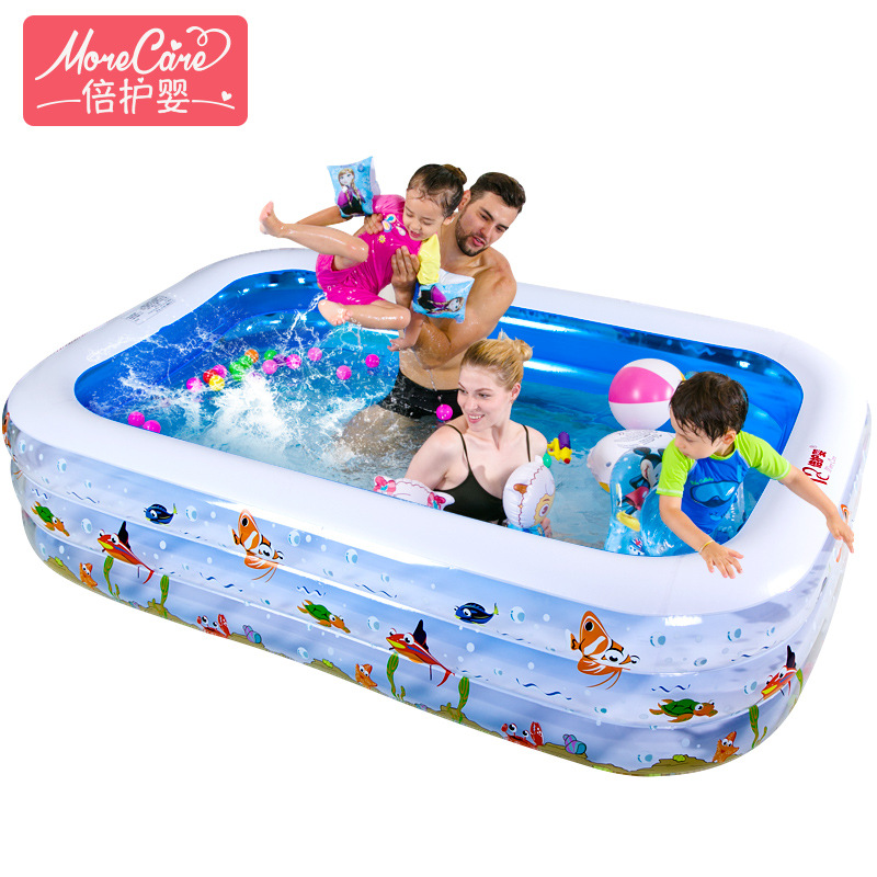 Children Large Inflatable Family Baby Adult Household Ocean Ball Pool Thickening Ultra Swimming Paddling Pool