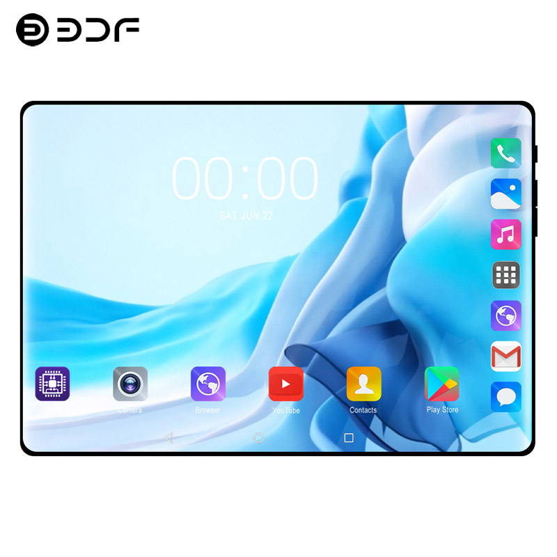 10.1 Inch Tablet PC 2.5D Steel Screen 3G Call LTE Octa Core 4GB RAM 64GB ROM Bluetooth Wifi IPS Kids Gift Tablets PC