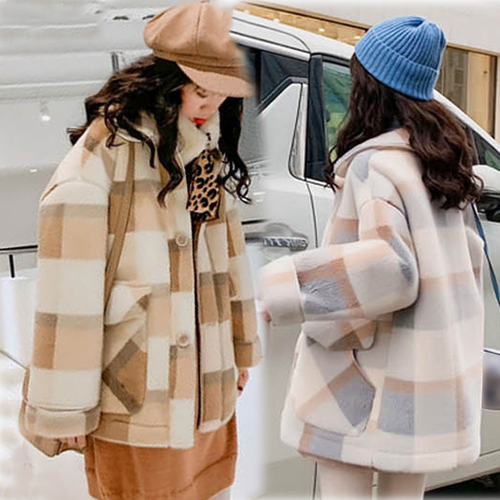 KANCOOLD, Женская куртка, в клетку, толстый кардиган, плюс бархат, пальто, для женщин, осень, зима, с отворотом, пальто, Тренч, куртка, тонкое, официальное пальто