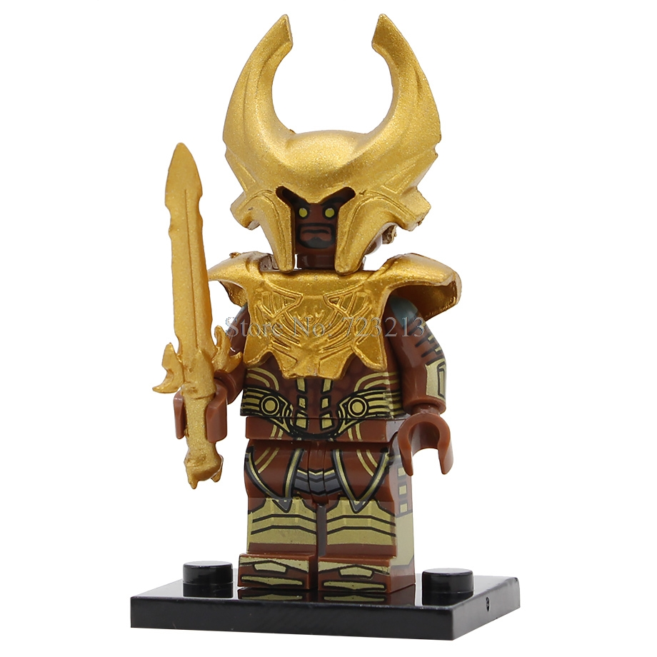 Heimdall Hero Figure Single Sale Rig Asgard Thor Ragnarok Heimdallr Building Blocks Movie Set Model Kits Bricks Toy Legoing