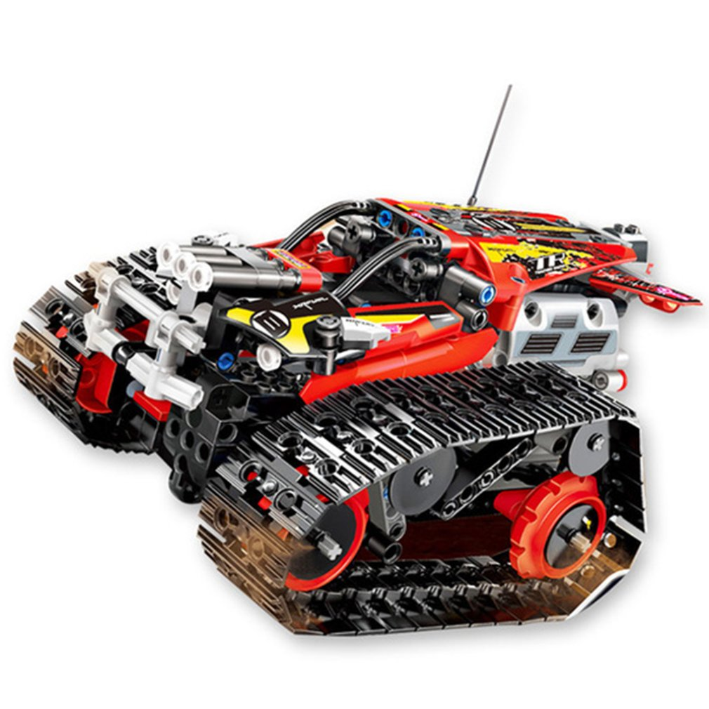 RC Tracked Stunt Racer Building Blocks Fit Legoing Creator APP Remote Control Car Bricks Toys Gifts For Children