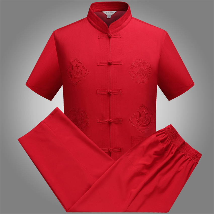 Tang Suit Traditional Chinese Clothing For Men Jackey Chinese Shirt Style News Year Top Pant Hanfu Kung Fu Clothing Blouse Party