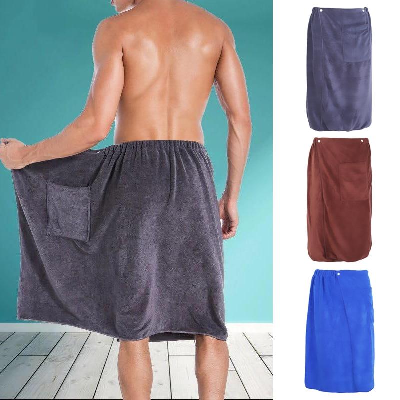 Модный Для Мужчин's банное Полотенца на липучке из микрофибры на поясе карман мягкие домашние открытый пляжное полотенце для купания Полоте...