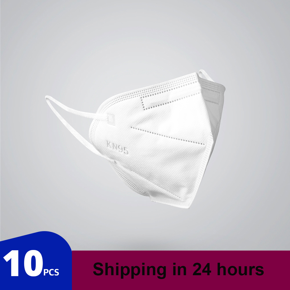 10 Pcs KN95 Mask Safety Dust Respirator  Mask Adaptable Face Masks Breathable Particulate Mouth Masks Filters Dropshipping