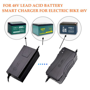 Image 2 - 도매 미국/EU/UK/AU 플러그 48V 20AH 리드 산 성 배터리 충전기 전기 자전거 자전거 스쿠터 어댑터 전원 공급 장치 DC59V 2.8A