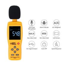 цена на SMART SENSOR AS834+ Sound Level Meter 30~130dB LCD Digital Wall Hanging Noise Measure Tester Decibel Monitor Detector